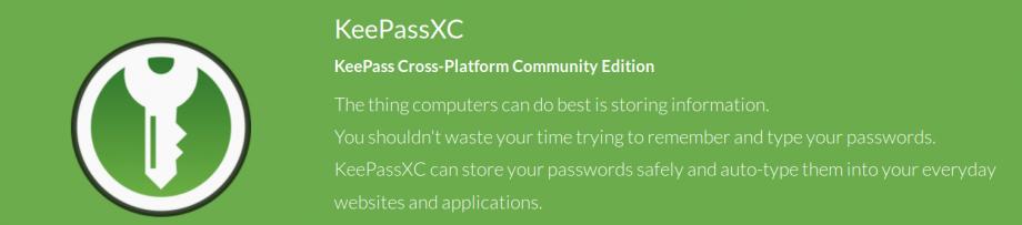 Passwort-Manager – KeePassXC