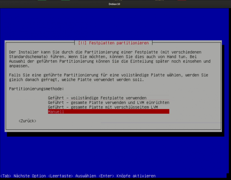 Debian 10 Installations Video